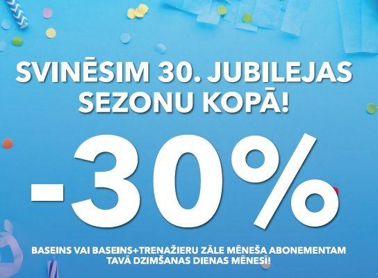 -30% DZIMŠANAS DIENAS MĒNESĪ